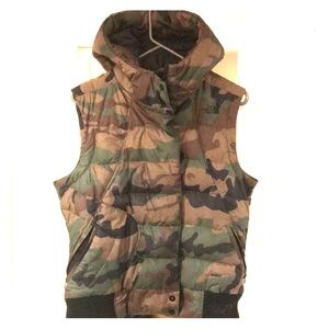 The North Face Cameo Vest with Hoodie